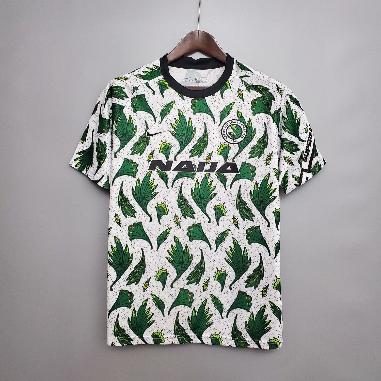 Camisa Nike Nigéria Pré Jogo 2020/21 Masculina