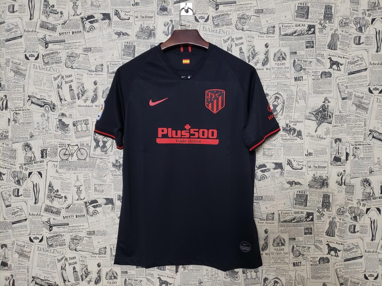 Camisa Atlético de Madrid Away 19/20  Torcedor Nike Masculina - Preto e Vermelho