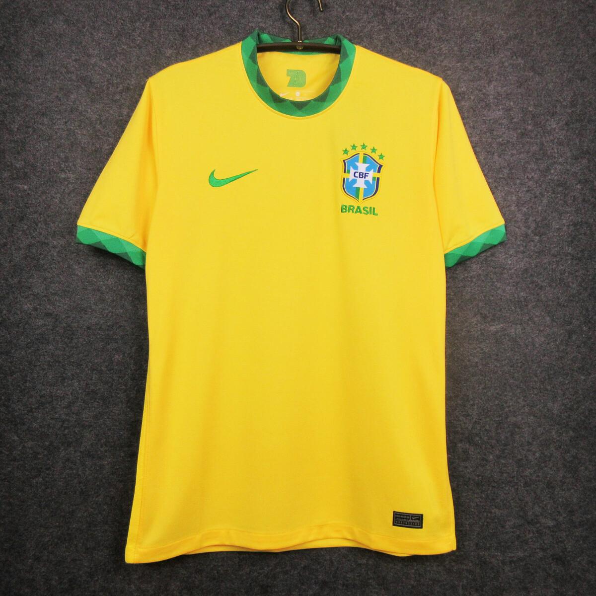 Camisa Seleção Brasil I 20/21  Torcedor Nike Masculina - Amarelo e Verde