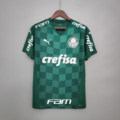 Camisa do Palmeiras I 2021 Puma - Masculina Patrocínios