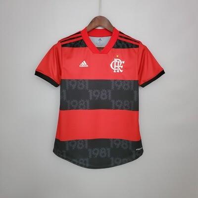 Camisa Flamengo Feminina Jogo 1 Adidas 2021
