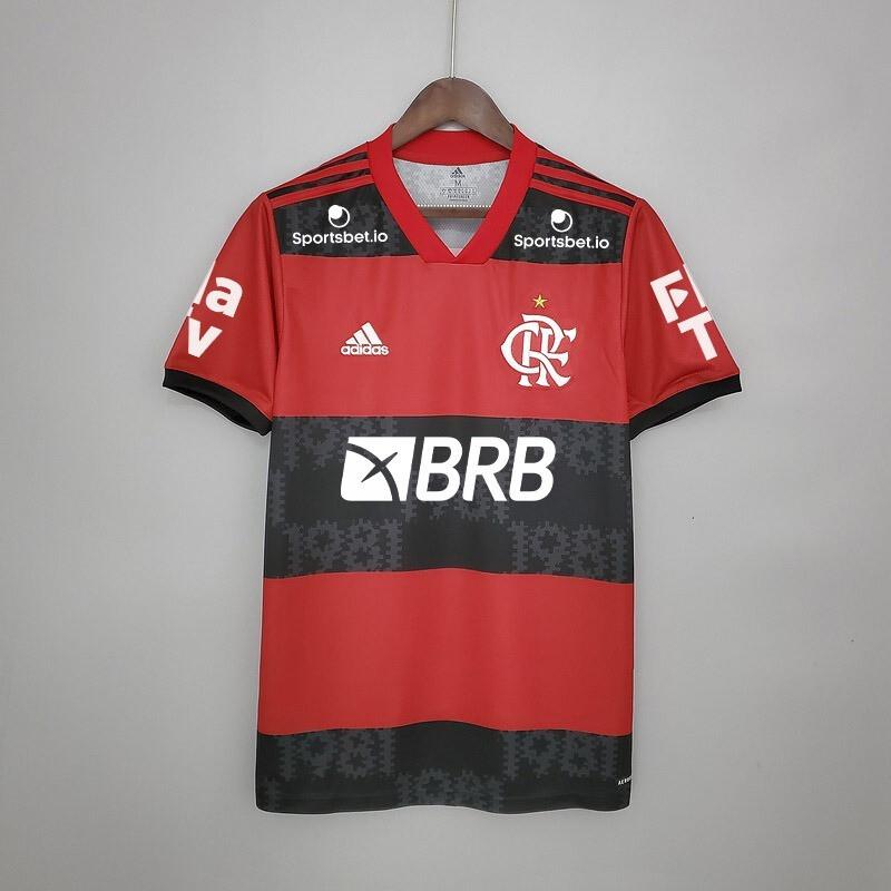 Camisa Adidas Flamengo I 2021/2022 Patrocínio
