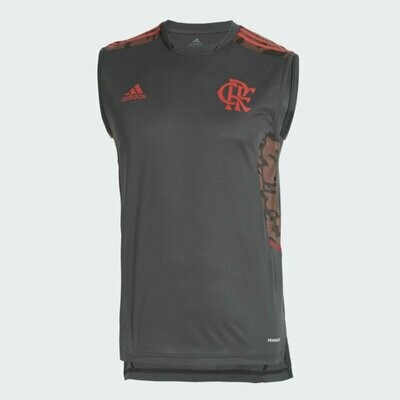 Regata Flamengo Treino Cinza Adidas 2021