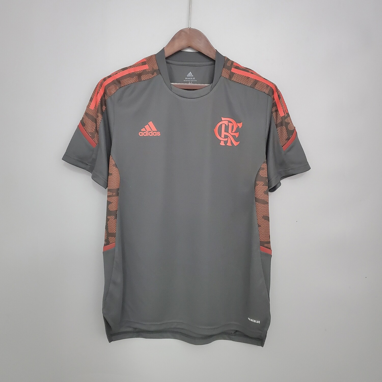 Camisa Flamengo Treino 21/22 Adidas Masculina - Cinza