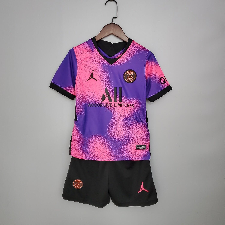 kit Camisa  PSG Infantil 2020/2021 uniforme IV