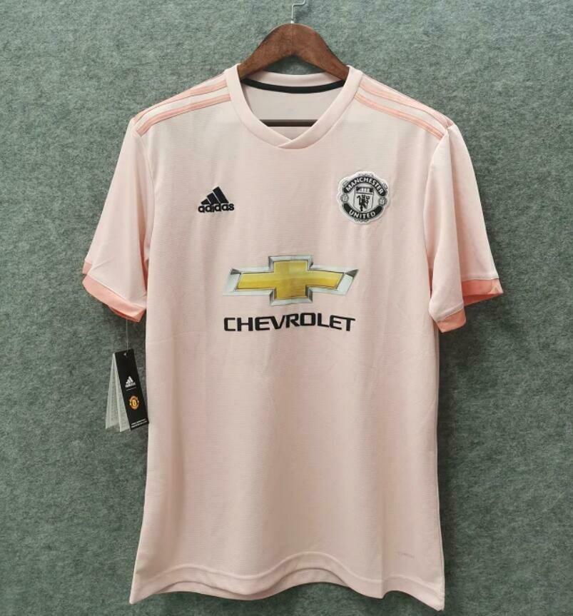 Camisa Manchester United Away 2018 - Torcedor Adidas Masculina - Rosê