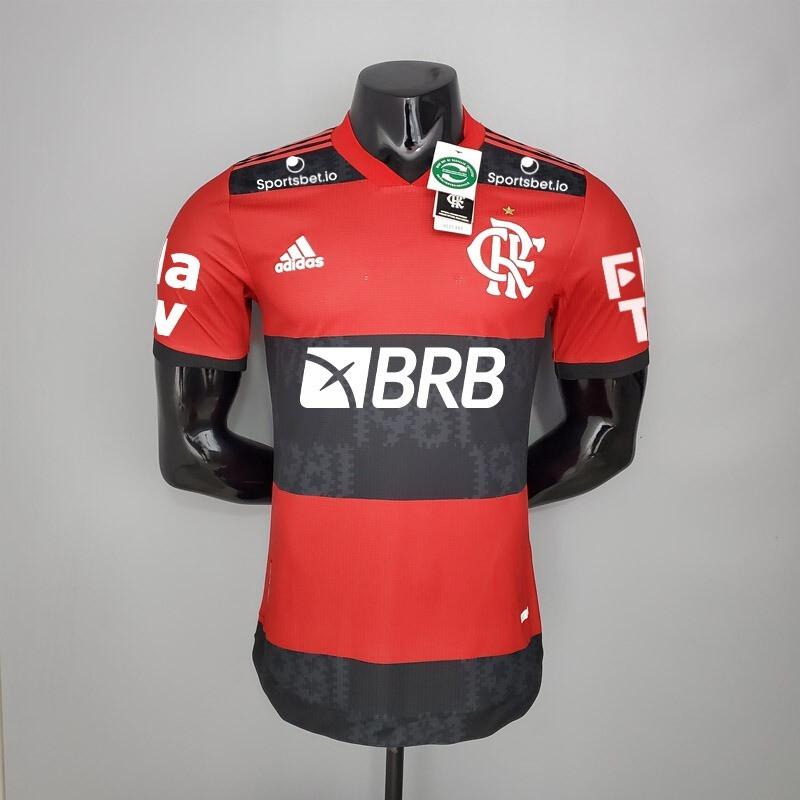 Camisa Flamengo Jogo 1 Authentic Adidas 2021 (Jogador) Patrocínios