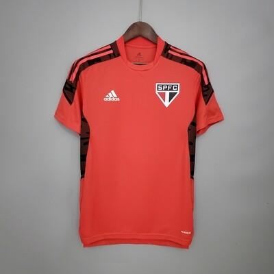 Camisa São Paulo Treino 21/22 Adidas Masculina - Vermelho