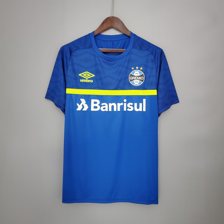 Camisa Umbro Grêmio Treino 2021 Azul