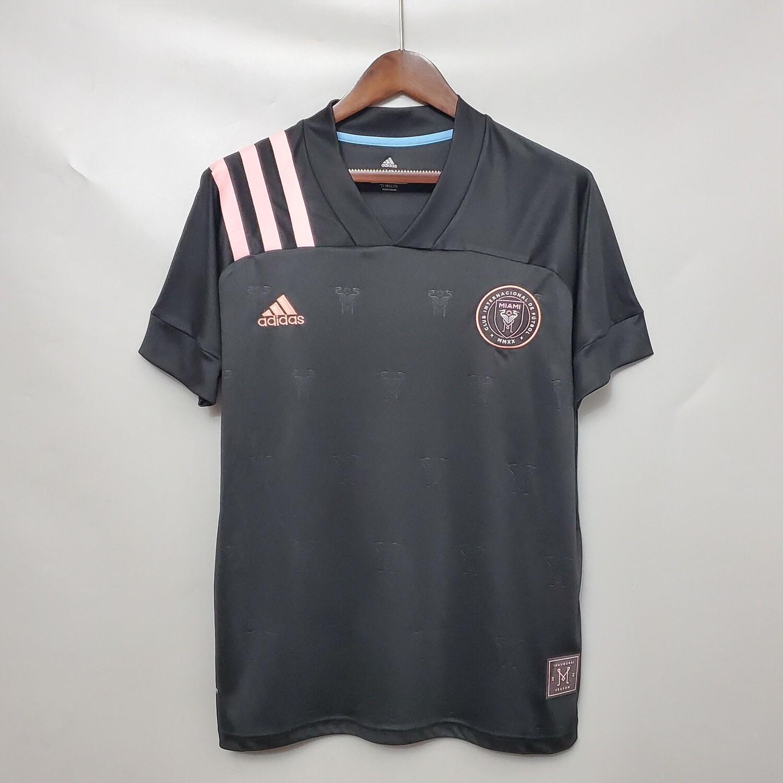 Camisa Inter Miami Away 20/21  Torcedor Adidas Masculina - Preto e Rosa