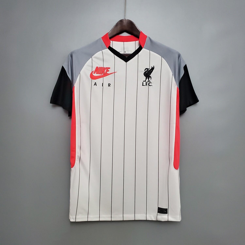 Camisa Liverpool AIR MAX 2021 Nike Masculina - Branco+Preto