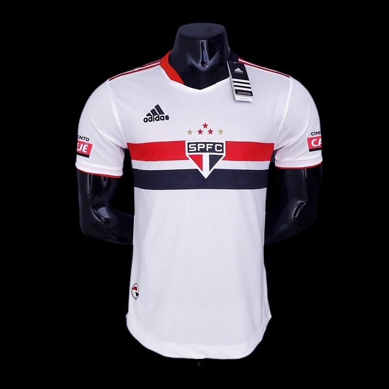 Camisa São Paulo Jogo 1  Adidas 2021 (Jogador) Patrocínios