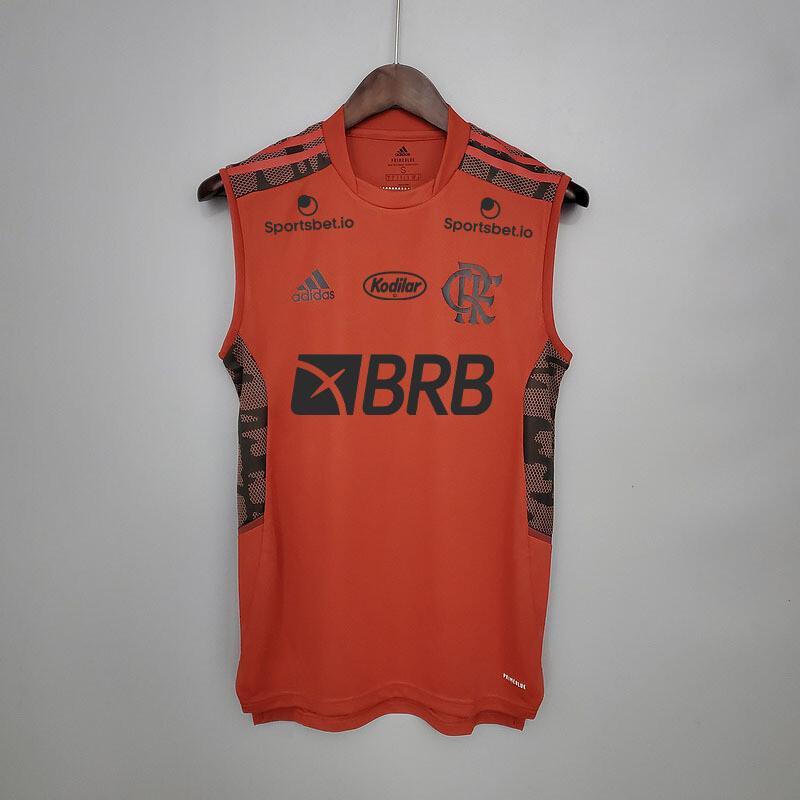 Camisa Regata  Flamengo Treino 21/22 Adidas Masculina - Cinza Patrocínios
