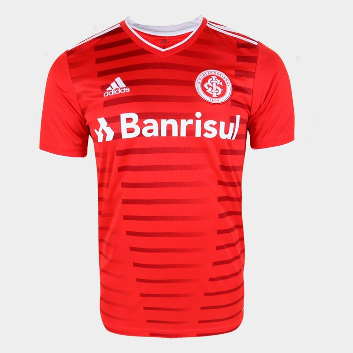 Camisa Internacional I 21/22  Torcedor Adidas Masculina - Vermelho