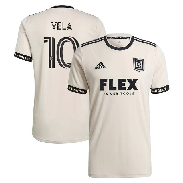 Camisa Los Angeles FC Away 21/22 Vela 10 Torcedor Adidas Masculino - Bege