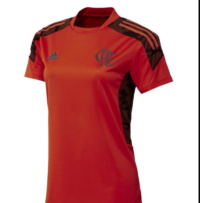 Camisa Flamengo Feminina  Adidas 2021 treino