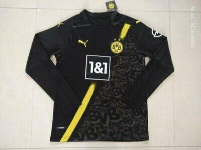 Camisa Borussia Dortmund away 20/21 Manga Longa