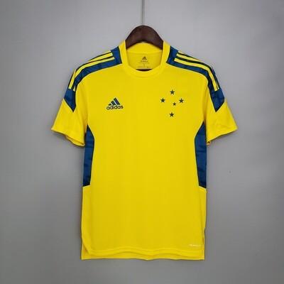 Camisa Cruzeiro Pré Treino 21/22 Adidas Masculina - Amarelo