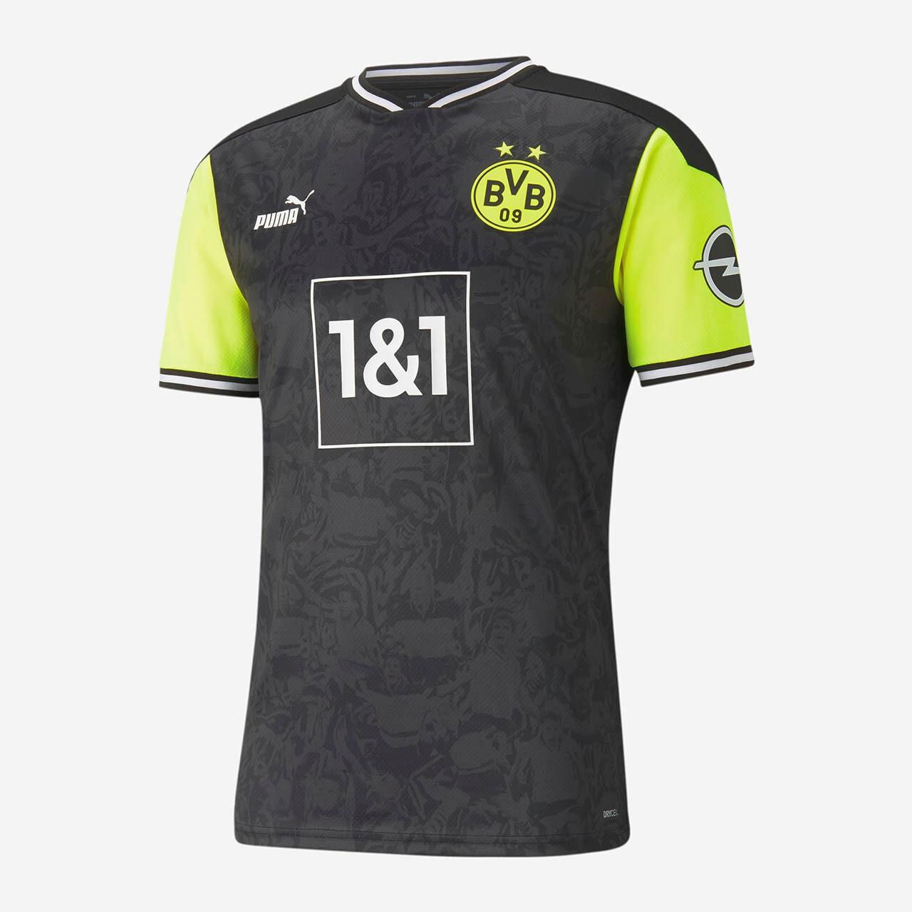 """Camisa retrô do Borussia Dortmund """"Anos 90"""" 2021 PUMA"""