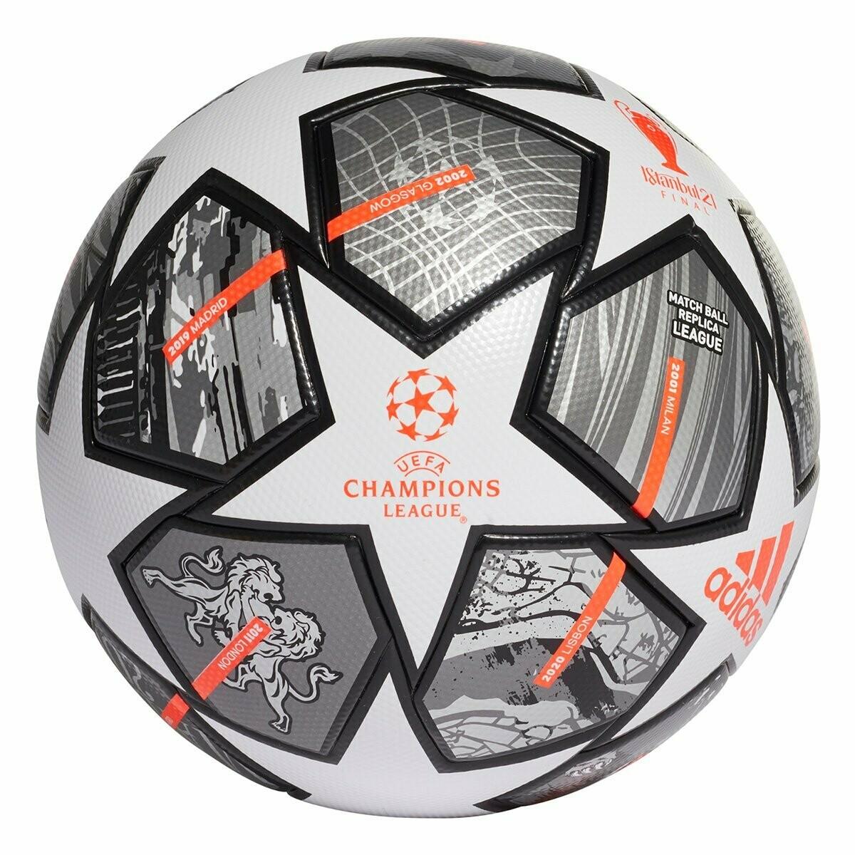 Bola de Futebol Campo Adidas UEFA Champions League Finale Stambul Liga - Branco+Preto