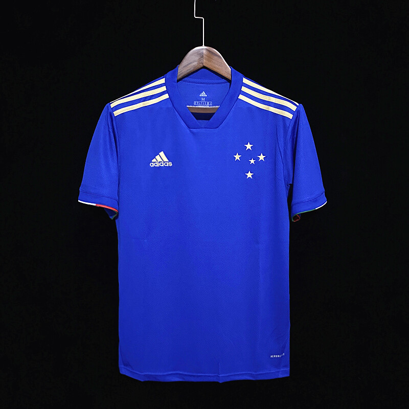 Camisa Cruzeiro I 21/22  Torcedor Adidas Masculina - Azul
