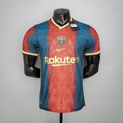Camisa Barcelona Feita Por Fan 2021 Edição Limitada Jogador