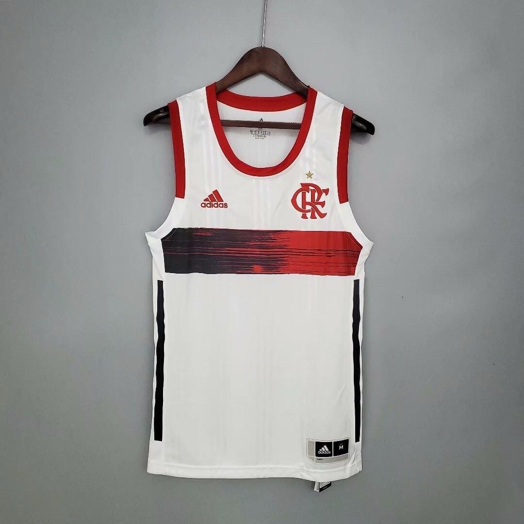 Regata Branca Flamengo Basquete  Adidas 2021/2022