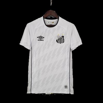 Camisa Santos I 21/22 Torcedor Umbro Masculina - Branco+Preto