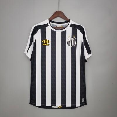 Camisa Santos II 21/22 Torcedor Umbro Masculina - Branco+Preto