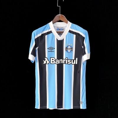 Camisa Grêmio I 21/22  Torcedor Umbro Masculina - Azul+Branco