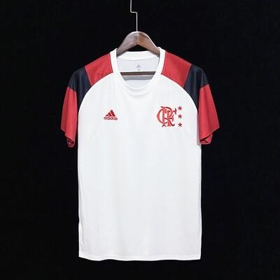 Camiseta Flamengo Icon nº 10 Adidas Masculina - Branco+Vermelho