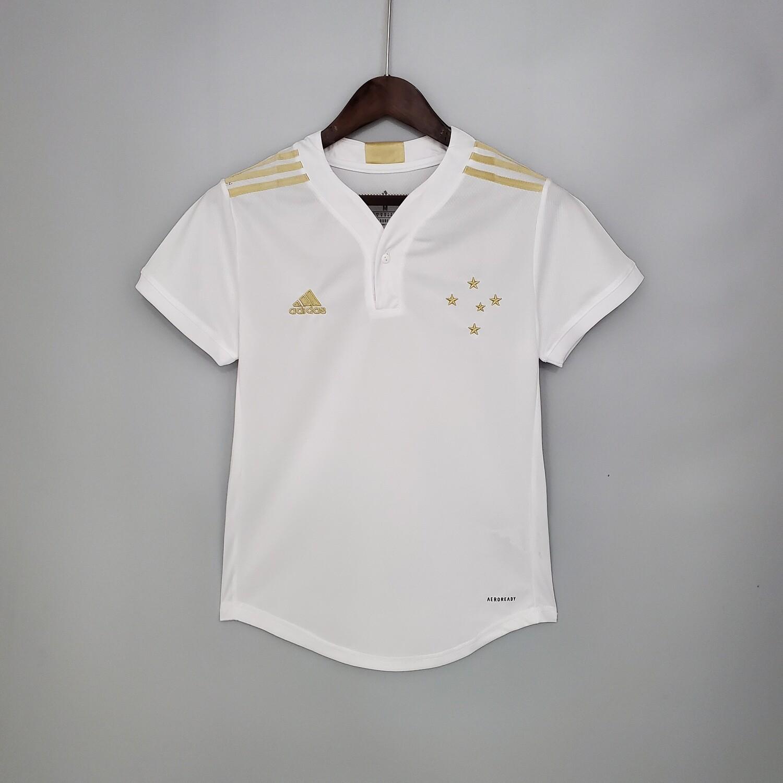 Camisa Cruzeiro II 21/22  Torcedor Adidas Feminina - Branco