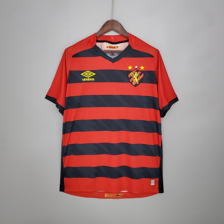 Camisa Sport Recife I 21/22  Torcedor Umbro Masculina - Vermelho+Preto