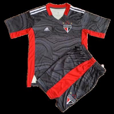 Camisa de Goleiro São Paulo I 21/22  Torcedor Adidas Infantil + Short