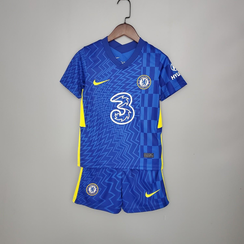 Camisa Chelsea  2021/2022 home Infantil + Short