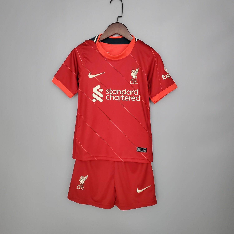 Camisa Liverpool Nike Infantil 2021/2022 Home