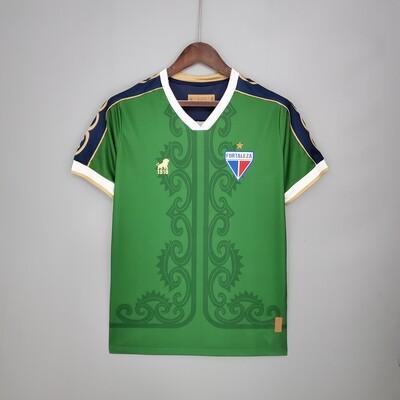 Camisa Leão 1918 Fortaleza Goleiro Copa do Nordeste 2021 - Verde
