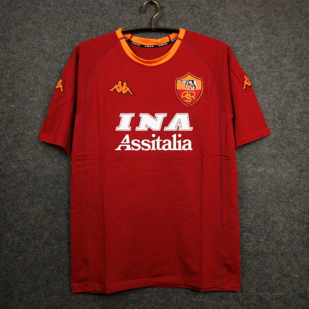 Camisa Roma 2000-2001 Home-Uniforme 1