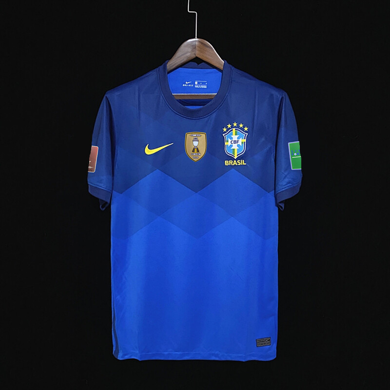 Camisa Seleção Brasil II 20/21 Torcedor Nike Masculina - Azul e amarelo
