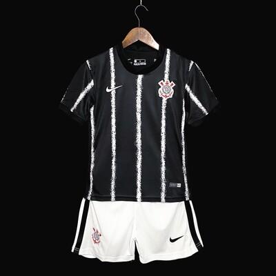 Camisa  Corinthians - Infantil 2021 Jogo 2