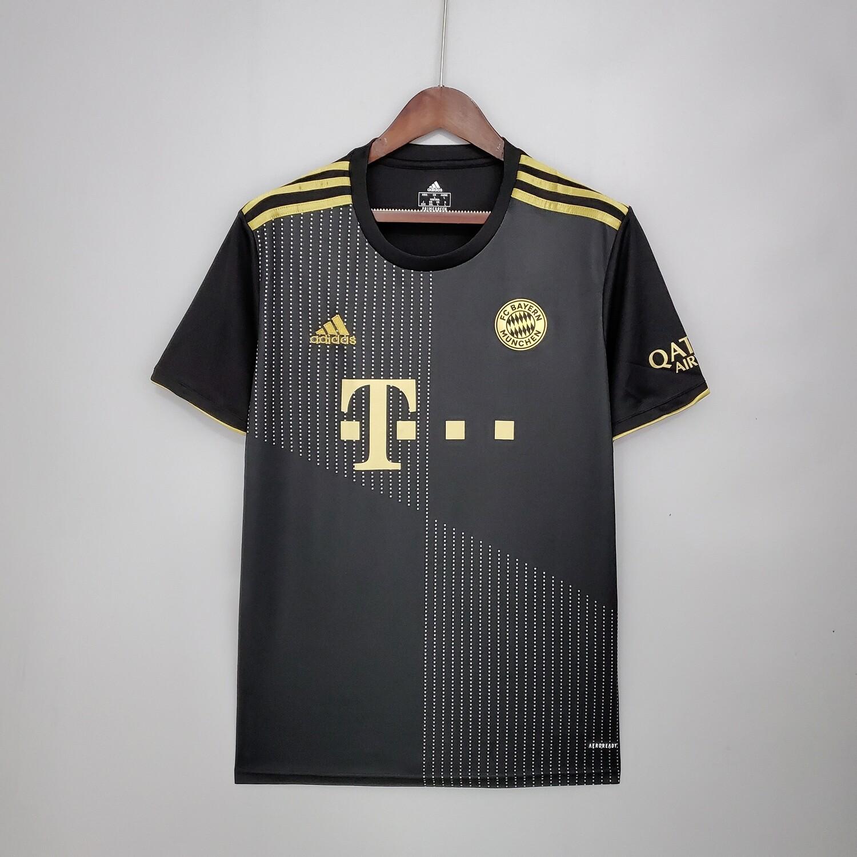 Camisa Bayern de Munique Away 21/22 Torcedor Adidas Masculina - Preto