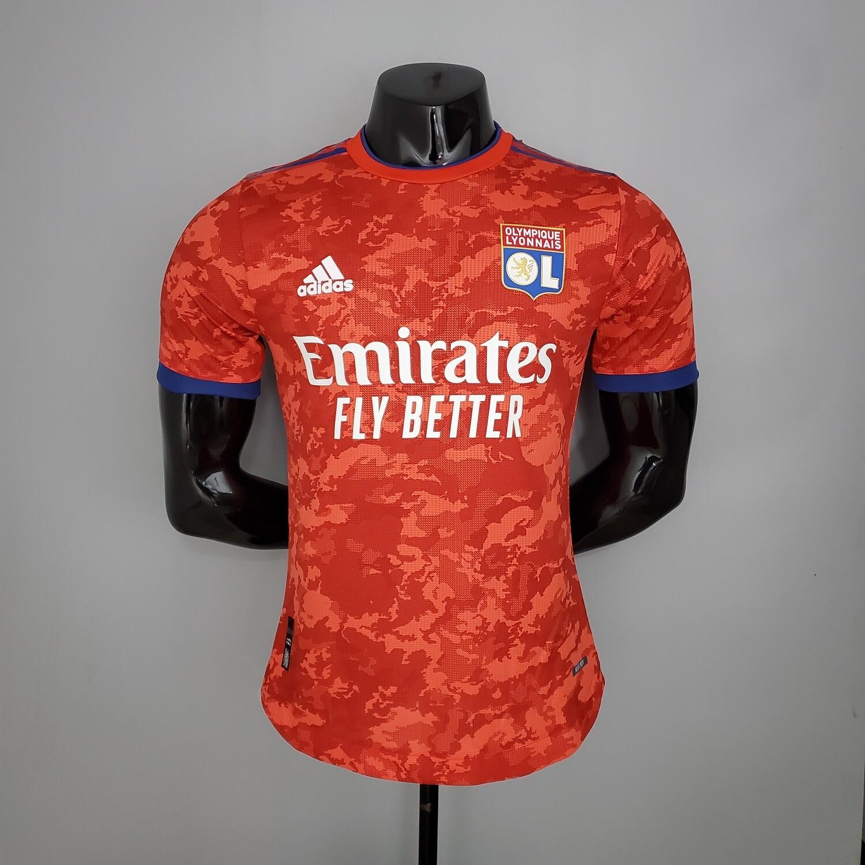 Camisa Olympique Lyon Home  2021-2022 Adidas Jogo 2