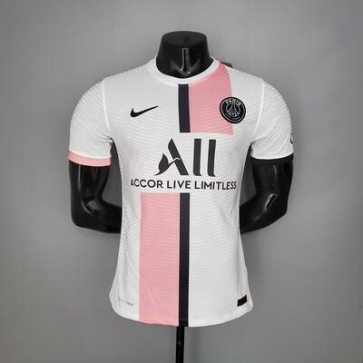 Camisa Nike PSG  2020/21 Jogador Masculina Rosa e Branca