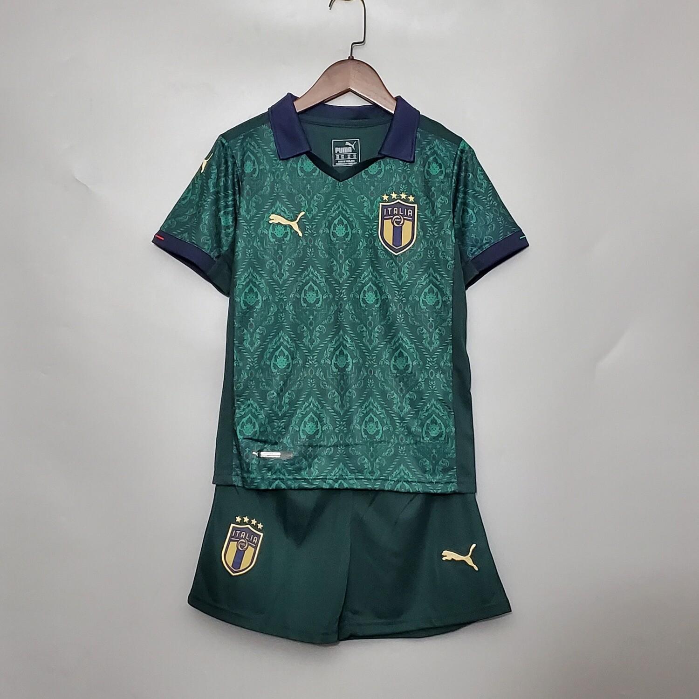 Camisa Seleção da Itália Home 2020 Puma -Infantil + short