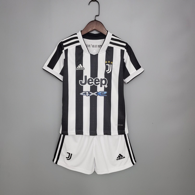 Kit Infantil Juventus I adidas  2021/2022 Camisa + Short