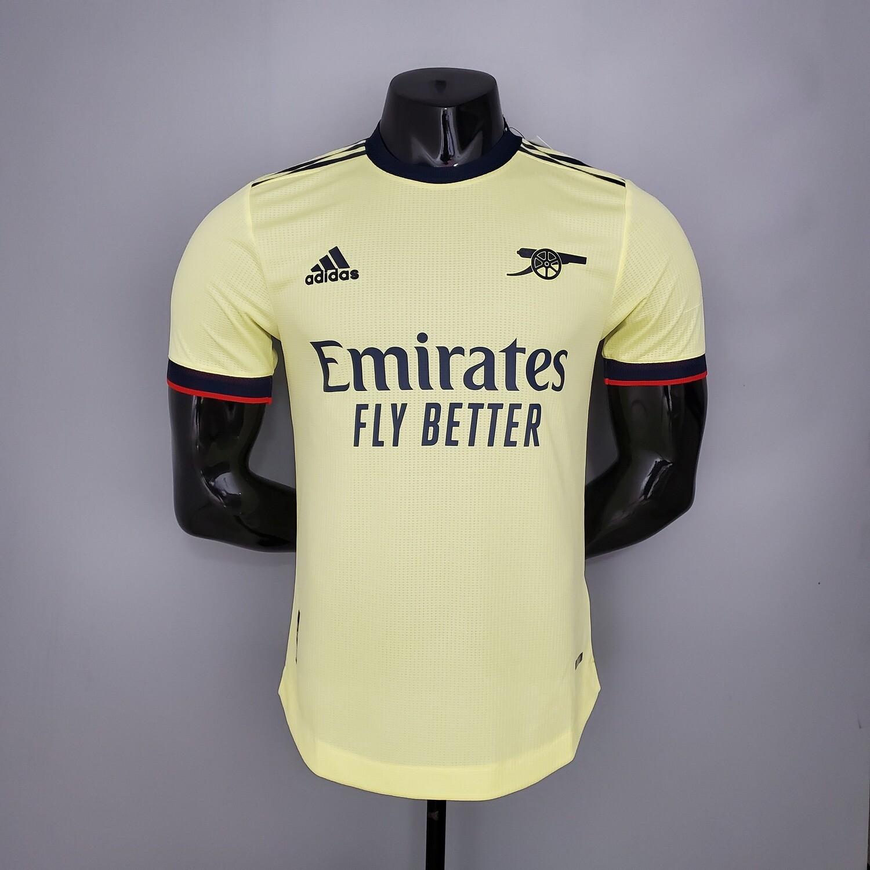 Camisa Arsenal Away 21/22 Jogador  Adidas Masculina - Amarelo