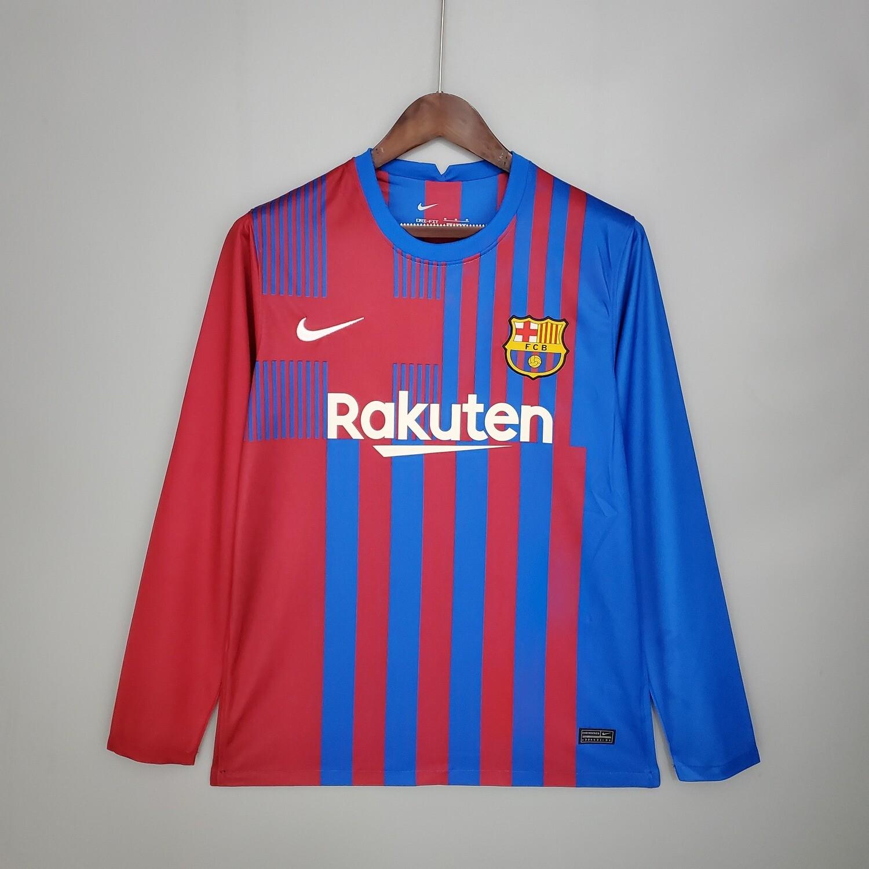 Camisa  Barcelona 2021-2022 Nike  Home Manga Longa