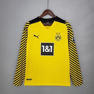 Camisa  Borussia Dortmund  2021-2022 Puma  Home Manga Longa