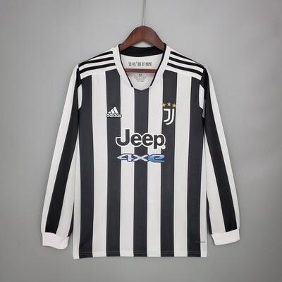 Camisa Manga Longa Juventus 2021-2022 Adidas Home