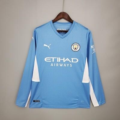 Camisa  Manchester City  2021-2022 Puma  Home Manga Longa